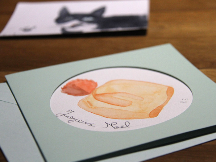 Les cartes de vœux aquarelle de Raphaëlle
