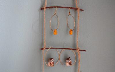DIY : porte boucle d'oreilles facile