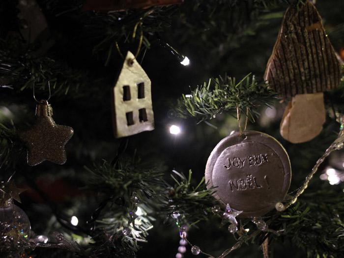 Décos de Noël en argile